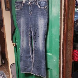 Silver jeans pioneer flap
